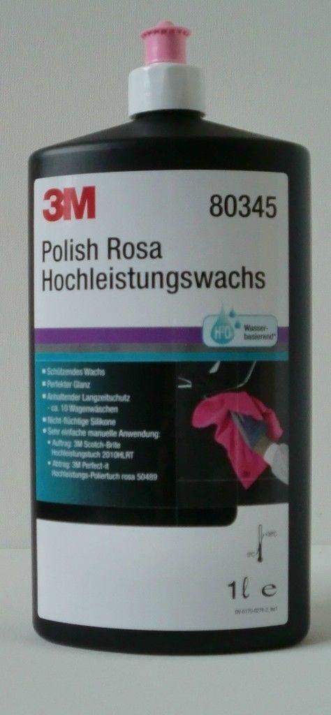 3M Politur 80345 Polish Rosa Hochleistungswachs -  1 Ltr.