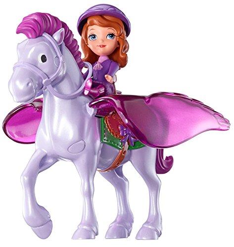 Mattel Disney's Sofia die Erste Y6651 - Sofia und Minimus, Puppe und Pferd