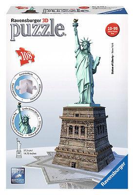 Ravensburger 12584 - Freiheitsstatue - Bauwerke, 108 Teile 3D Puzzle