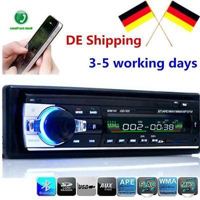 Bluetooth Car Autoradio MP3/USB/SD/AUX-IN FM Radio Player für Amplifier DHL Ship