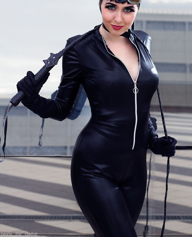 Catsuit Costume Faux Leather / Faux PVC Cosplay zip up 29