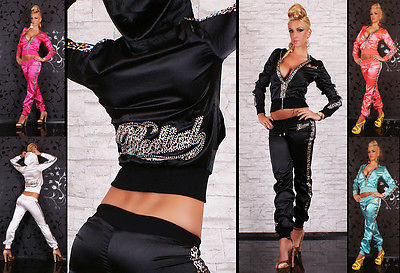 HOT & SEXY SATIN TRACKSUIT IN LEOPARD BY REDIAL 6 COLORS Size 8-12