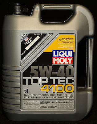 5 Liter Liqui Moly Top Tec 4100 5W-40 Motoröl 5W40 BMW VW Porsche