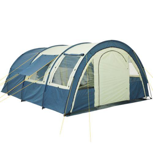 Tunnelzelt Zelt Familienzelt Gruppenzelt mit 2 Kabinen NEU