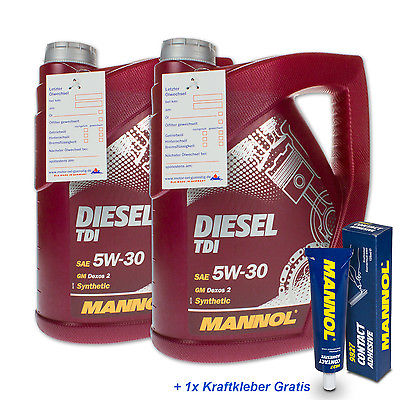 10 (2x5) Liter MANNOL 5W-30 Diesel TDI Motoröl für BMW, Mercedes, Opel