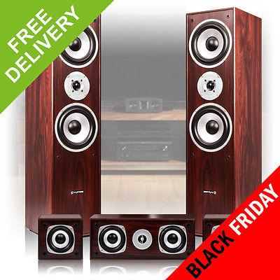 Skytronic 5.0 Walnut Surround Sound Home Cinema Hi-Fi Speakers System 1150W