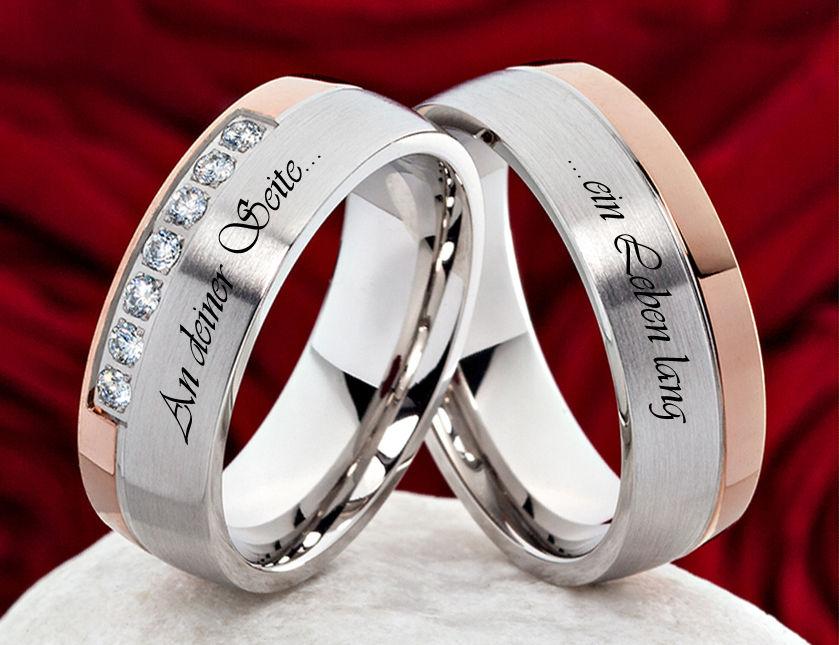 Eheringe Verlobungsringe Trauringe Ringe aus Edelstahl  Außenlasergravur   H131