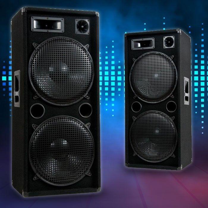 3000W PAAR DJ PA 3-Wege Disco Party Lautsprecher Boxen Discoboxen Beschallung