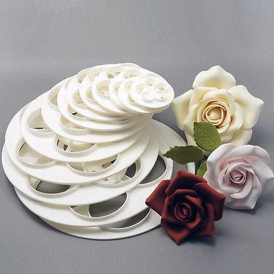 6 tlg Rosen Blumen Cutters Ausstecher DIY Cookie Fondant Dekoration Mold