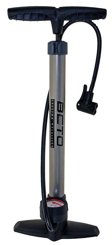 Metall Standpumpe BETO mit Manometer bis 11 bar Luftpumpe Fahrradpumpe ()
