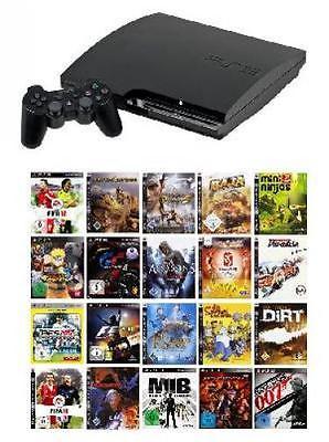 Playstation 3 Slim 120 GB Komplettbundle inkl. 5 Spiele - PS3