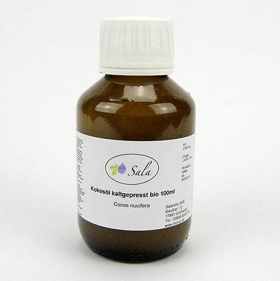 (2,45/100ml) Kokosöl 100% reines Kokos Massage Öl kaltgepresst bio kbA 100 ml
