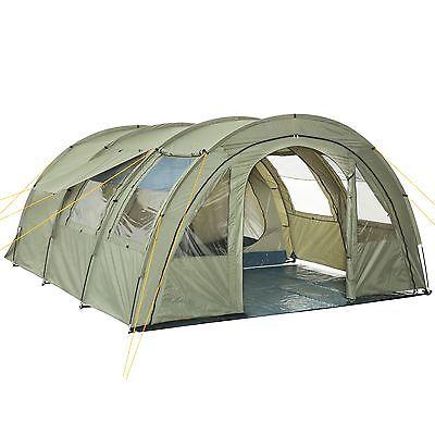 CampFeuer® Tunnelzelt Familienzelt 5000mm Wassersäule, 4 Personen,  480 x 340 cm