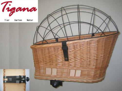 XL Hundefahrradkorb für Gepäckträger mit Gitter Gepäckträgerkorb aus Weide NEU