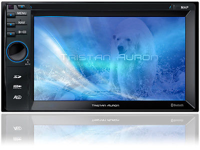 BLUETOOTH AUTORADIO 2 Din DVD USB MP3 Navigation mit Bildschirm Touchscreeen
