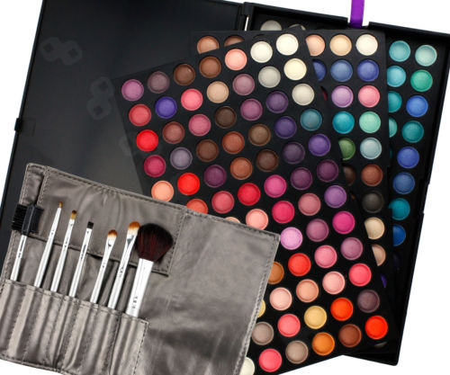 Toll 252 Farben Make-up Lidschatten Palette mit 7 Pinsel Make Up Geschenk Set