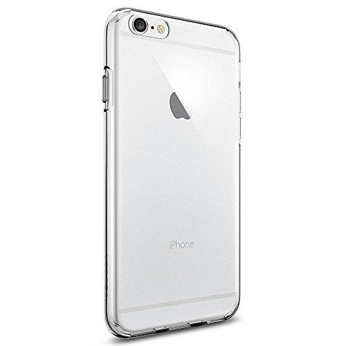 iPhone 6S Hülle, Spigen® [Liquid Crystal] Ultra Dünn [Crystal Clear] Transparent Soft-Flex Handyhülle / Bumper-Style Premium-TPU Silikon / Perfekte Passform / Durchsichtige Schutzhülle für iPhone 6/6S Case, iPhone 6/6S Cover - Crystal Clear (SGP11596)