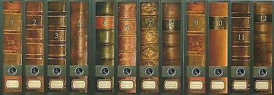 12 Ordnerrücken Bücher 1 -12 Lexikon Ordner Ordneraufkleber Aufkleber Deko