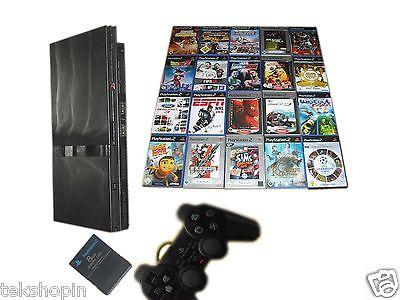 Sony PS2 Slim Konsole + Controller + MC + 3 Spiele Gratis * Playstation 2 Bundle