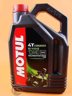 Öl Motoröl Motul 5100 SAE 10W40 4-Takt Motorrad ESTER halbsyntetisch 1x 4 Liter