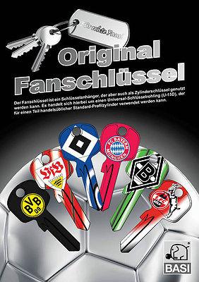 Fanschlüssel Bundesliga U15D Univ. Schlüsselrohling Lizenzierte Fanartikel  NEU