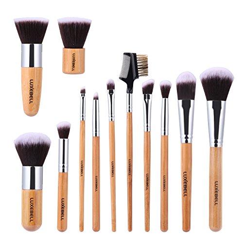 Luxebell® Make-Up Pinsel Set von Bamboo Bambus Kosmetisches Mittel. Augenbrauen Schatten Cosmetic Puders Foundation Concealer Bürsten