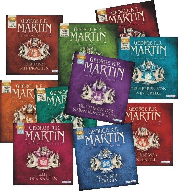 + Martin : Das Lied von Eis und Feuer Teil 1-10  MP3 HörBucher NEU Game of Thron