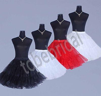 Petticoat Unterrock Rockabilly 50er 60er Jahre Dirndl Röcke weiss schwarz rot /
