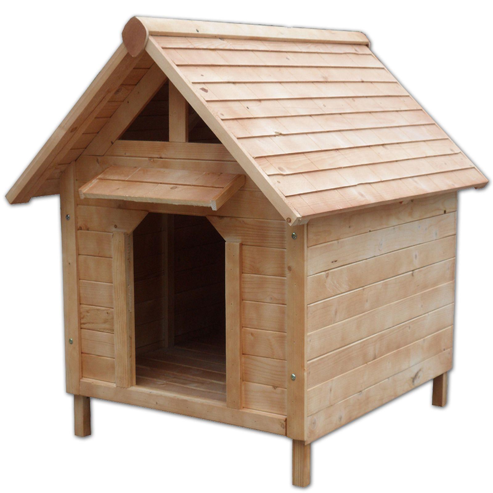 Hundehütte wetterfestes Hundehaus mit Vordach für Hunde (103 x 83 x 97 cm)