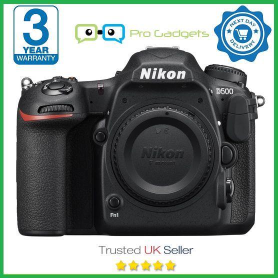 New Nikon D500 20.9MP DX DSLR Camera - 3 Year Warranty - Multiple Languages