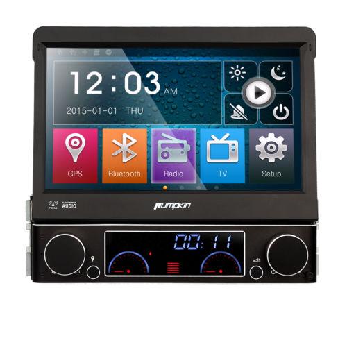 HD 1 Din Autoradio Mit GPS Navi Navigation Touchscreen Bluetooth USB SD RDS TV