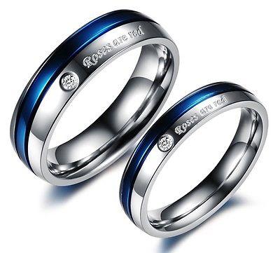 2 Partner Ringe  Eheringe Trauringe Verlobungsringe Freundschaftsringe Zirkonia