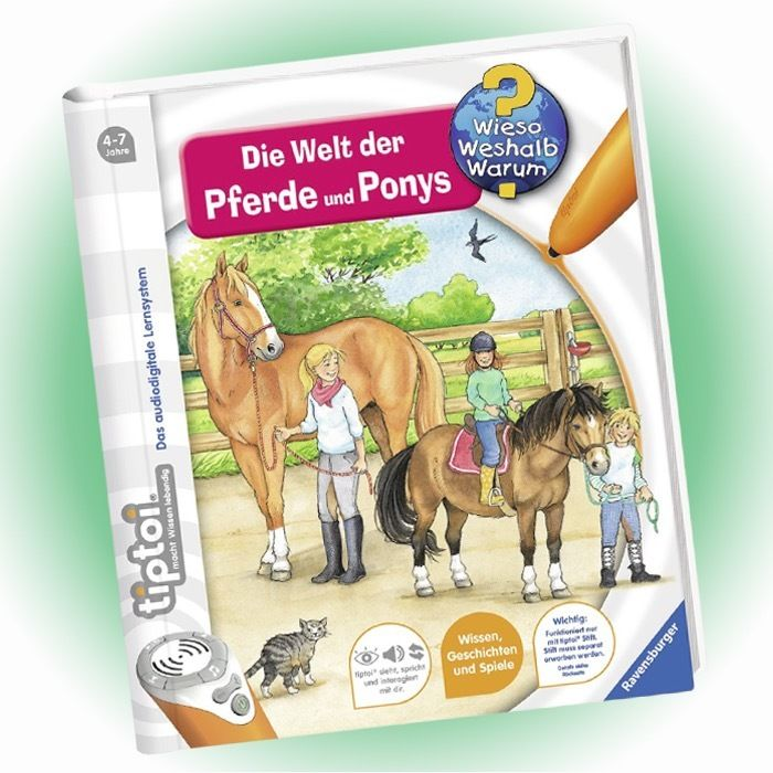 RAVENSBURGER tiptoi® - Wieso Weshalb Warum? - Die Welt der Pferde und Ponys