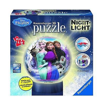 Ravensburger - 3D Puzzleball Nachtlicht: Disney Die Eiskönigin, 72 Teile