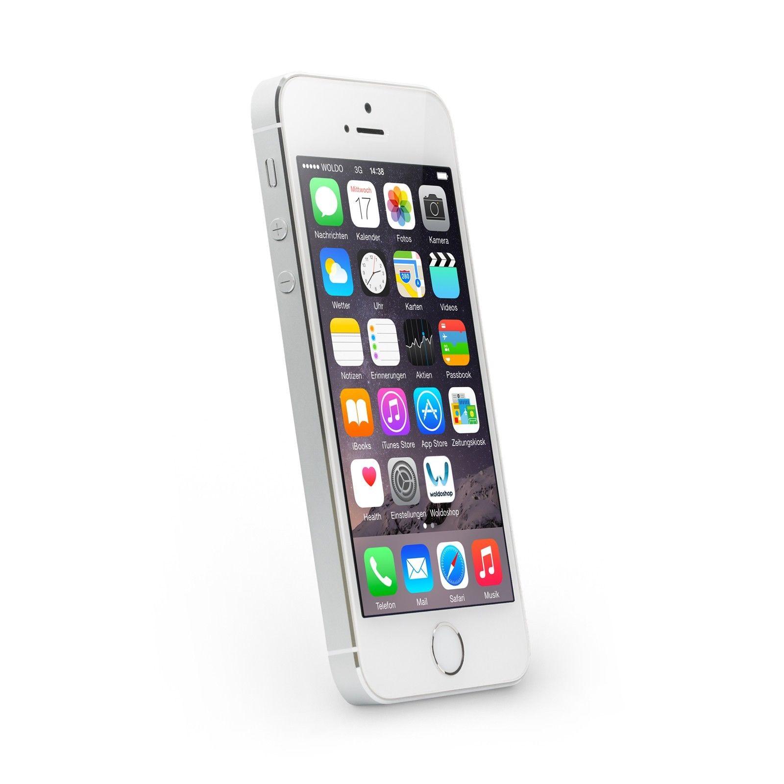 Apple iPhone 5s 16GB Silber Ohne Simlock Ohne Vertrag Smartphone