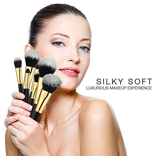 Plemo Make Up Pinsel Set, 8-teiliges Professionelle Kosmetik Pinselset inkl. Pinselhalter