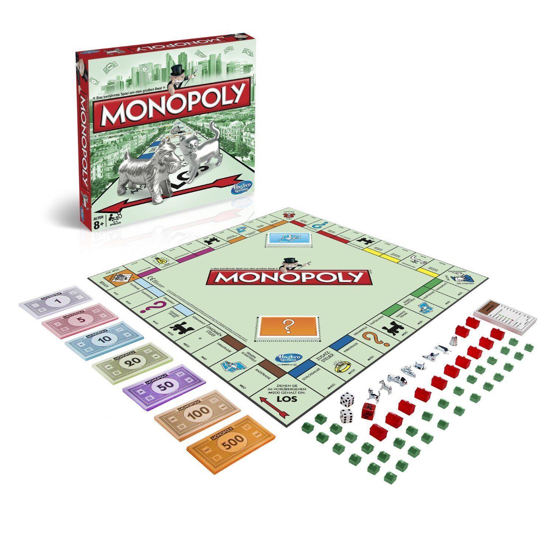 Monopoly Classic, Familienspiel, Hasbro 00009398 - DAS erfolgreichste Brettspiel