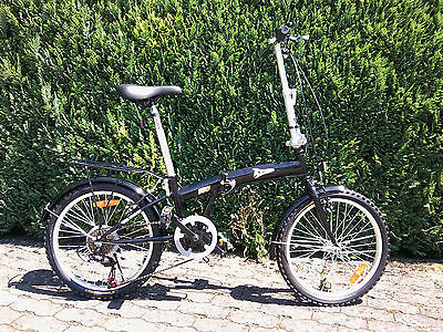 Klappfahrrad Klapprad Faltrad 20 Zoll /16kg/ 6 Gang Camping /schwarz oder silber