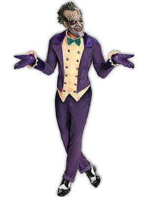 Deluxe Adult Licensed Batman The Joker Mens Fancy Dress Costume Halloween + Mask