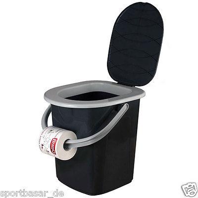 BRANQ CAMPINGTOILETTE EIMER TOILETTE 22 L Toiletteneimer REISE ZELTEN WC, NEU