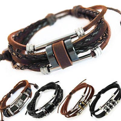 TIBET SERIE 32! Leder Armband Bracelet Leather Unisex!Surferarmband Herren Damen