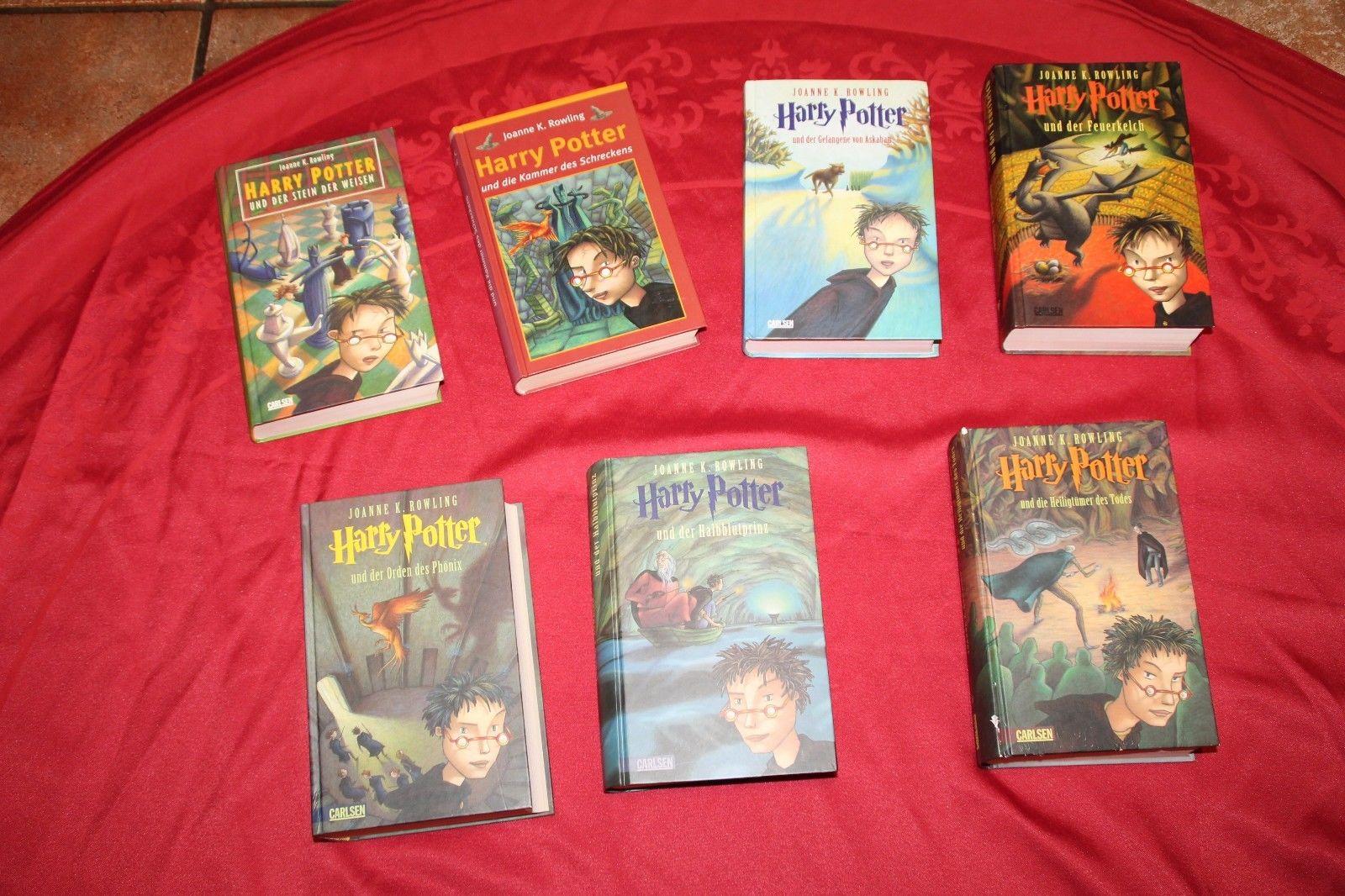 Harry Potter Bücher Band 1-7 gebunden gut bis sehr gut