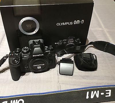 Olympus OM-D E-M1 16,3 MP Digitalkamera - Schwarz (Nur Gehäuse)