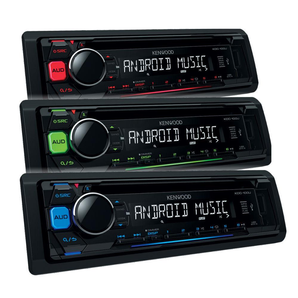 Kenwood KDC-100UB blau Autoradio RDS CD MP3 USB AUX Android Steuerung Model 2016