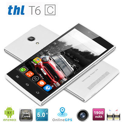 8GB+1GB 5.0'' Android 5.1 Quad Core 3G Smartphone Dual SIM/Kamera 8MP WIFI GPS
