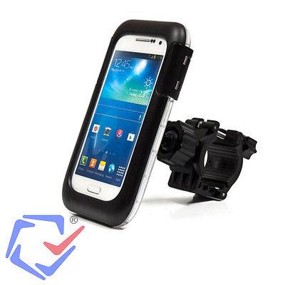 Motorrad Biker Roller Halterung Griff mit Tasche Etui für Handy Smartphone Navi