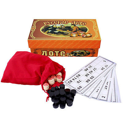 Russisches Lotto ??????? ???? Bingo Bingospiel Brettspiel Spielset Familienspiel