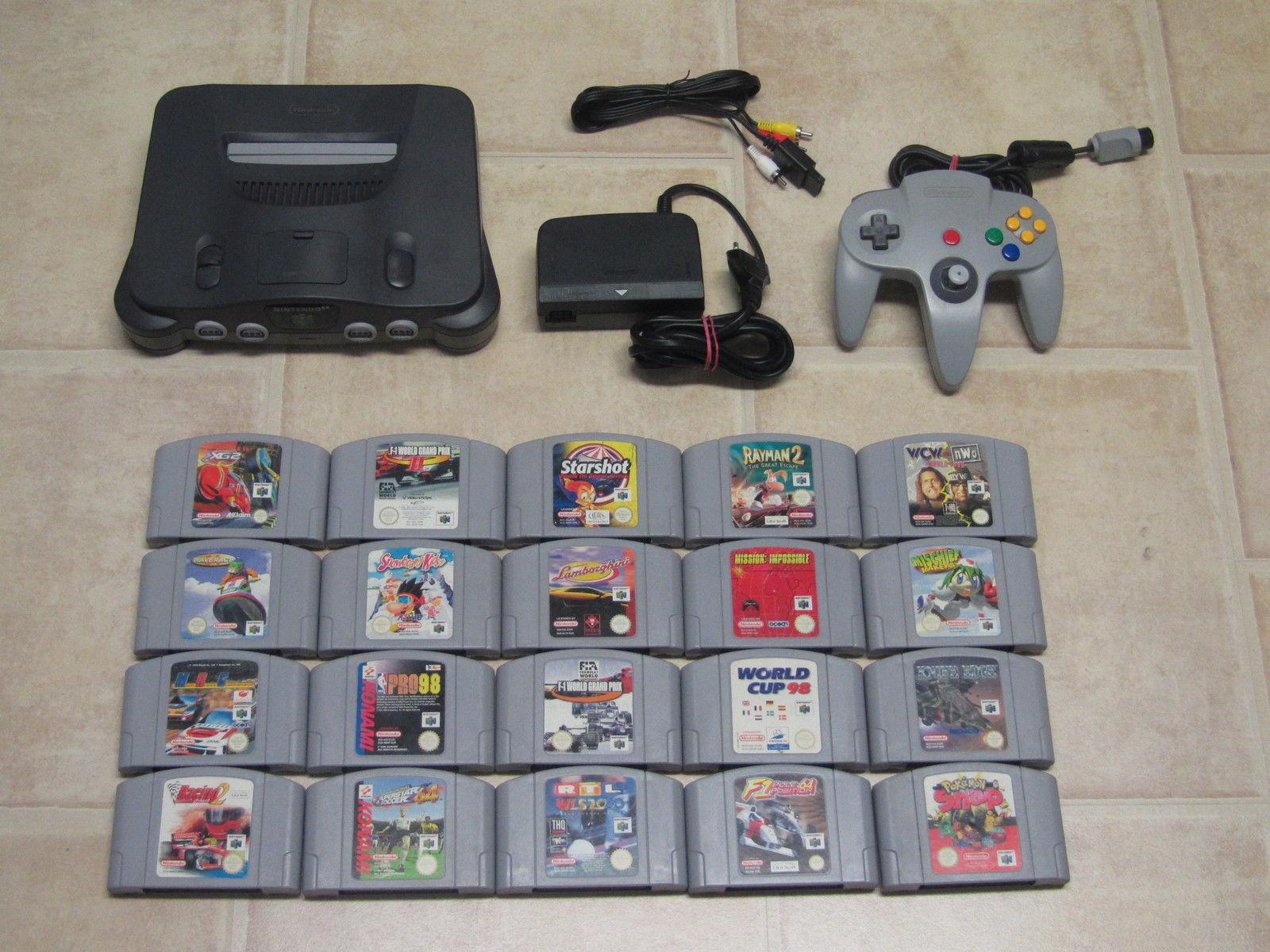 Nintendo 64 komplett mit Controller + 5 Gratis Spiele