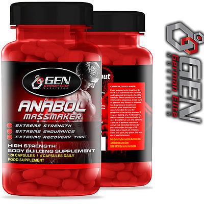 Anabol Massmaker Das stärkste Mittel für den Muskelaufbau Vorsicht Stark!!!