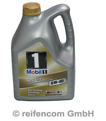 Motoröl Mobil 1 New-Life 0W-40 BMW MB Opel VW 5 Liter 5L